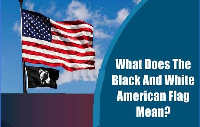 Black And White American Flag