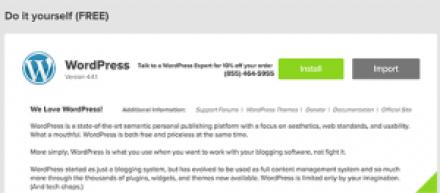 Wordpess Installation using mojo marketplace