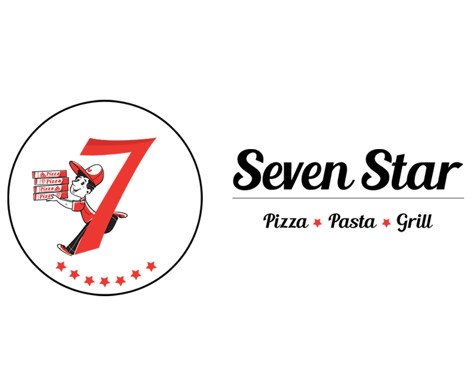 seven star logo black Seven Star Pizza Pasta Grill, Australia