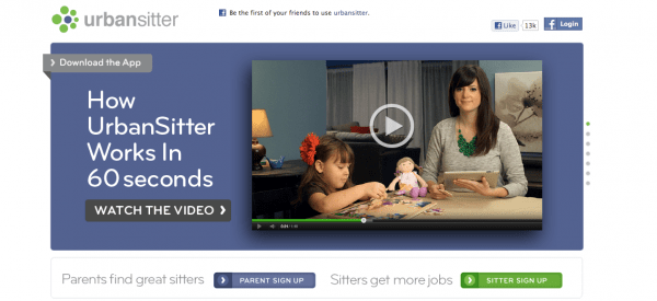 how to optimize videos urban sitter homepage as an example