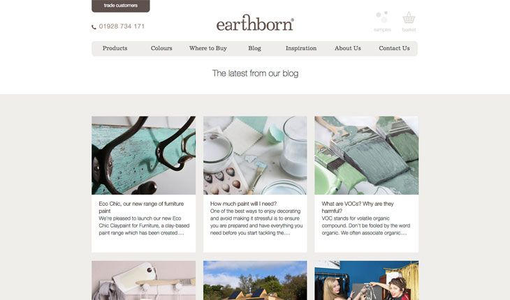 Earthborn usa el marrón como color dominante