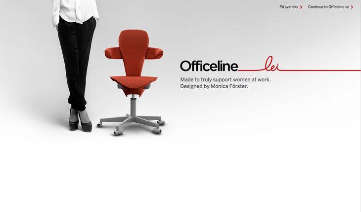 Muestra del uso del color blanco en la web Officeline