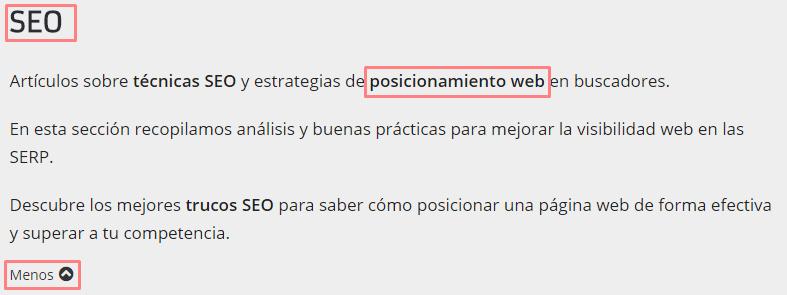Categoría de WordPress optimizada