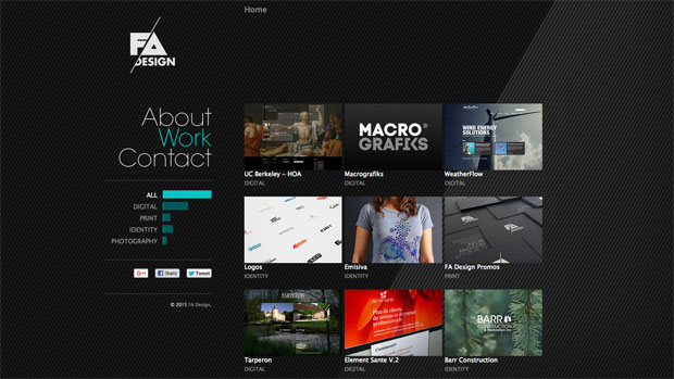 inspiración portfolio diseñador