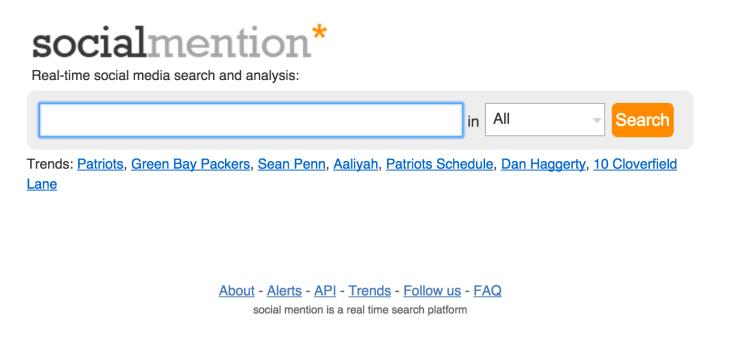 Con Social Mention puedes monitorizar la conversación sobre tu marca a tiempo real