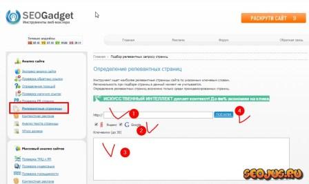 seogadget.ru для анализа релевантности