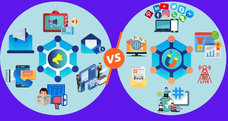 You are currently viewing Difference between outbound and inbound marketing- Digital Marketing