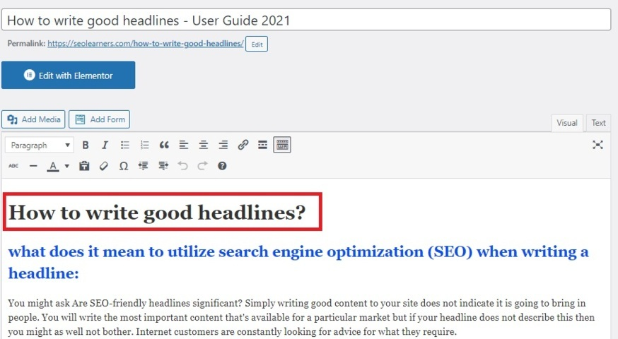 You are currently viewing Importance of Header tags in Search Engine Optimization  2021
