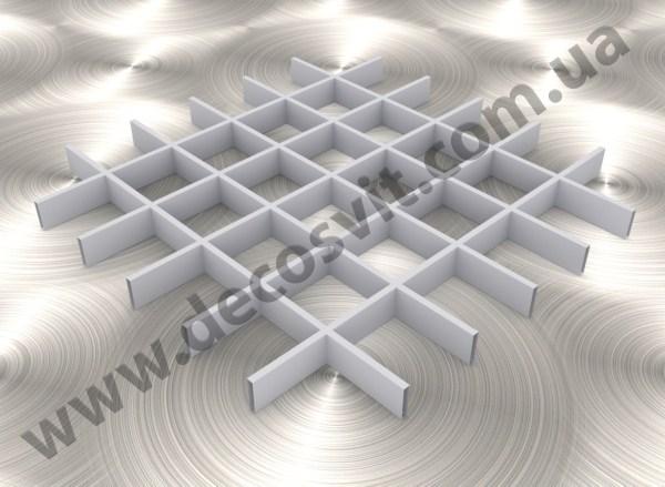 Грильято 100х100 RAL 9006 подвесные потолки