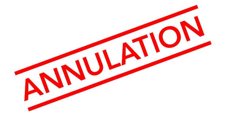 Activités syndicales annulées et reportées