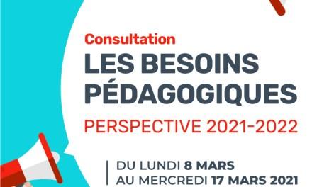 Consultation FAE sur les besoins pédagogiques de la rentrée 2021-2022