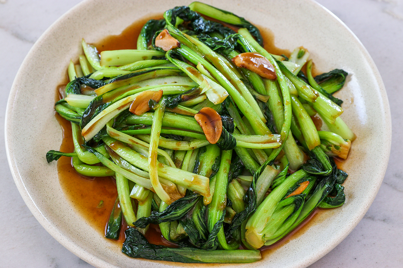 Vegan Stir Fried Bok Choy Recipe Video Seonkyoung Longest
