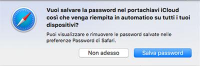post facebook schermata password
