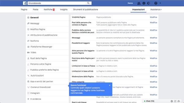 articolo 8 facebook