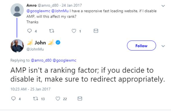 AMP ranking factor