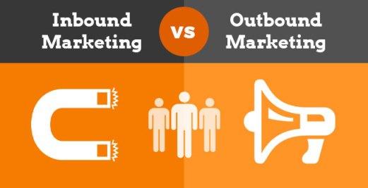 Resultat d'imatges de inbound vs outbound marketing