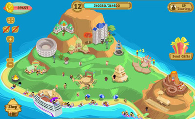 Facebook Фейсбук игра - Happy Island