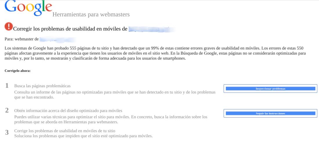 Google aestá visando a los webmaster si una tienda online no está optimizada para móviles