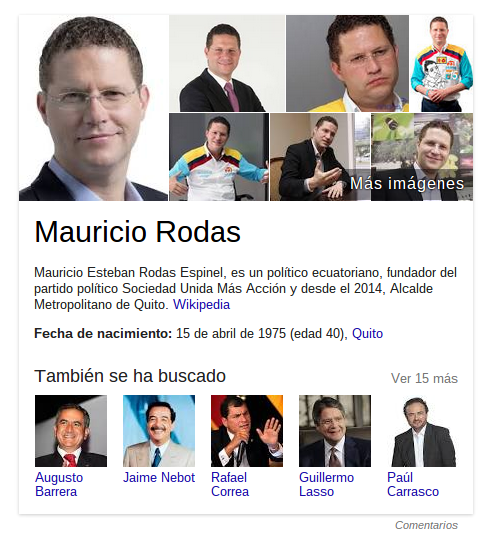 Mauricio Rodas: Google Knowledge Graph.