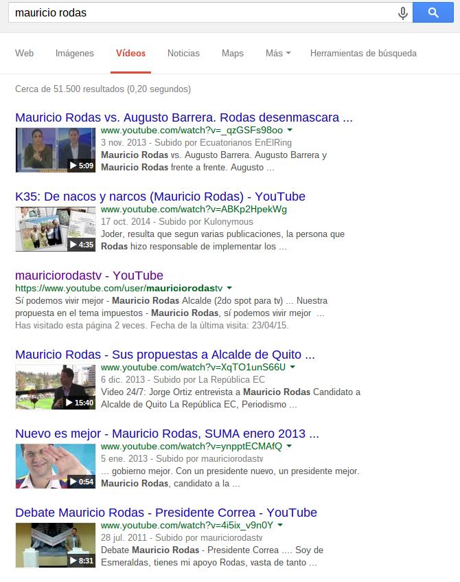VIdeos sobre Rodas: Google.