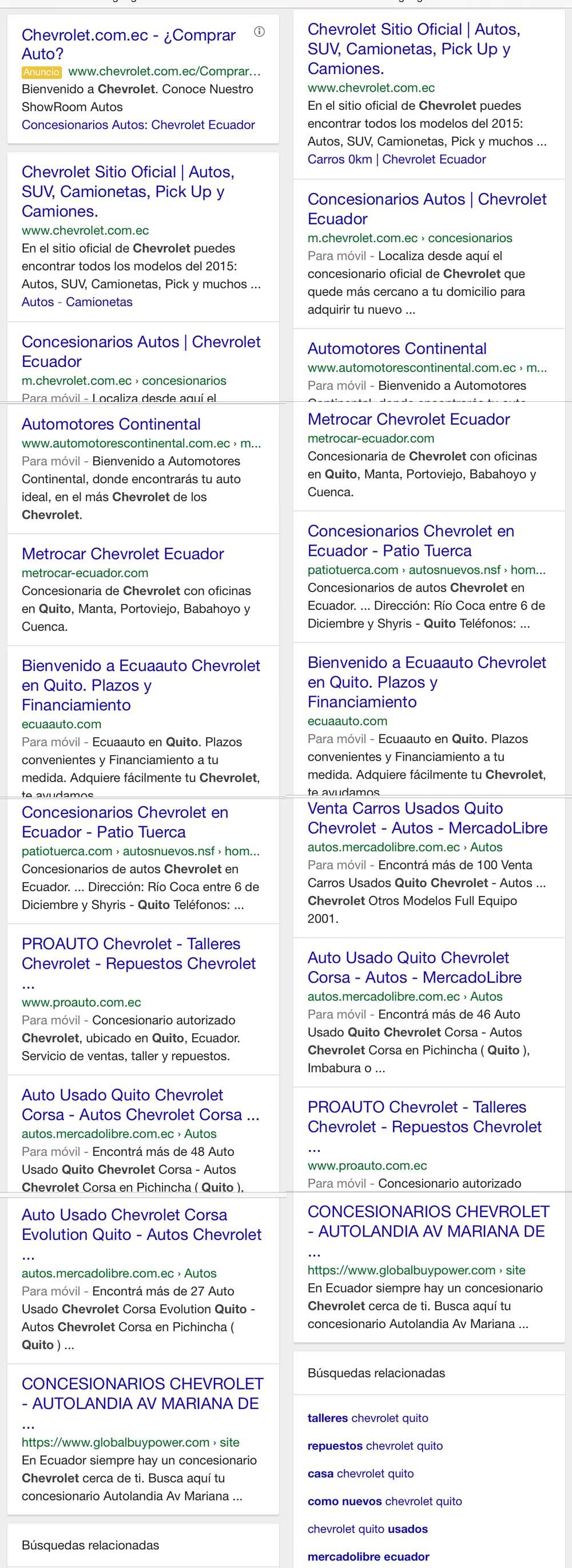 Resultados búsqueda móvil para  chevrolet quito