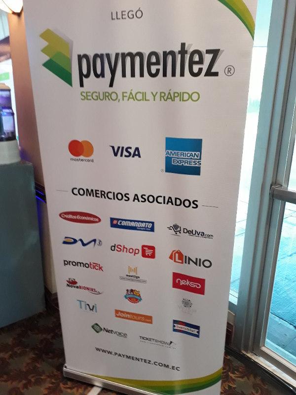 Publicidad de Paymentez en el eCommerce Day 2017.