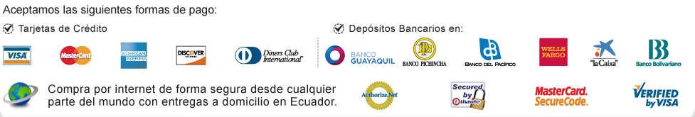 Formas de pago y sellos de seguridad en http://www.creditoseconomicos.com/.