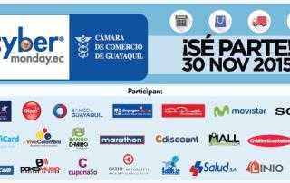 Sitio oficial del Cyber Monday: Banner de las empresas que participan