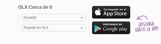 OLX ofrece aplicaciones para dispositivos móviles.