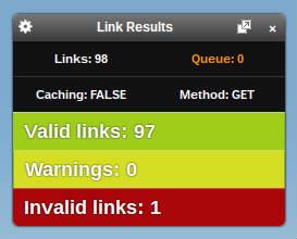 Check my links - herramienta para el navegador Chorme.
