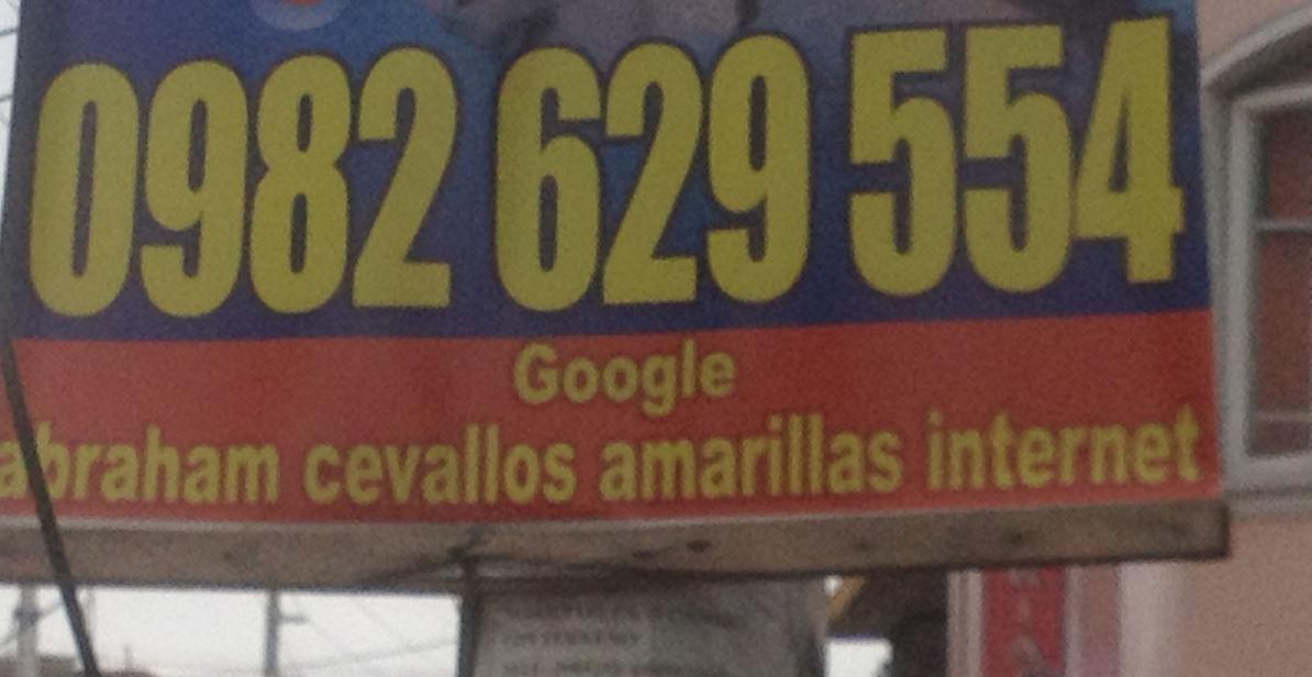 Publicidad de Cevallos en San Rafael.