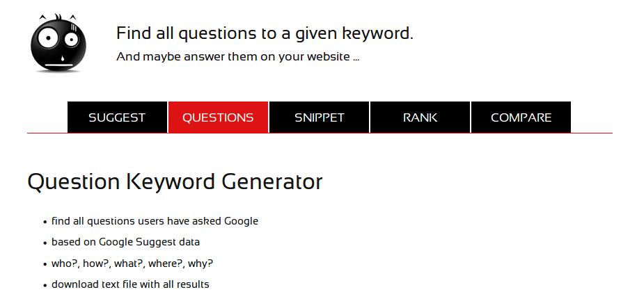 Seorch Question Keyword.