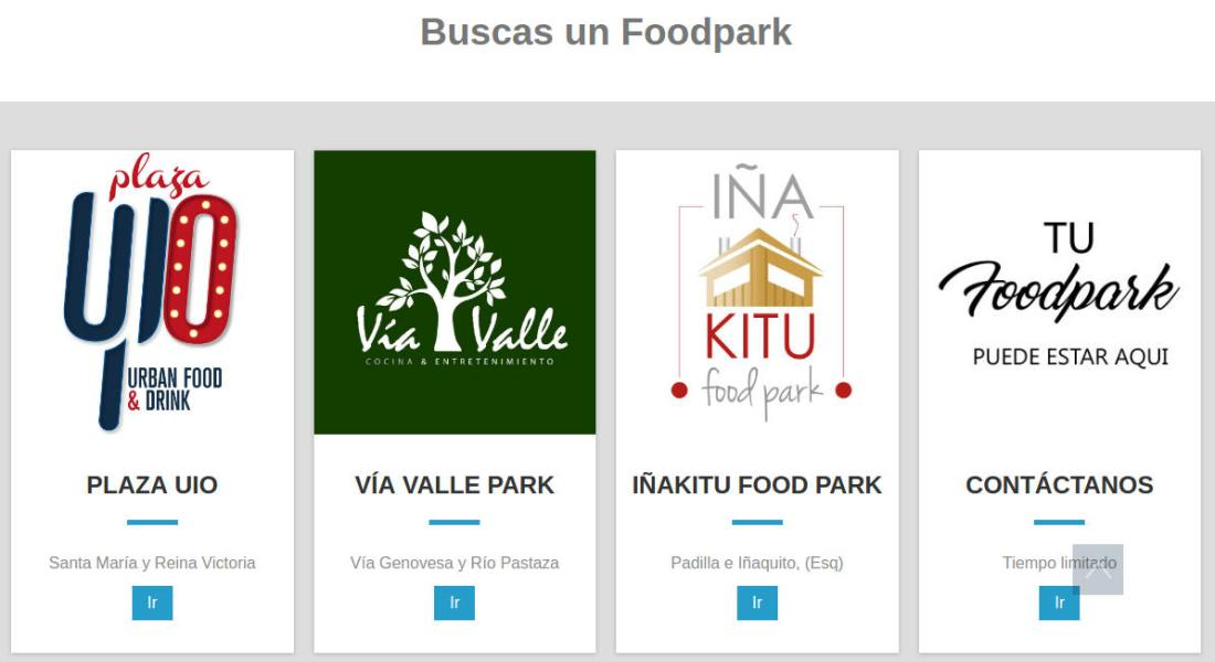 Sitio web de foodparck.com.ec