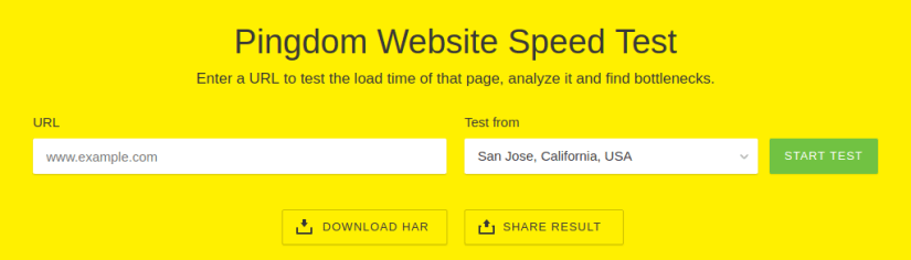 Pingdom Website Speed Test.