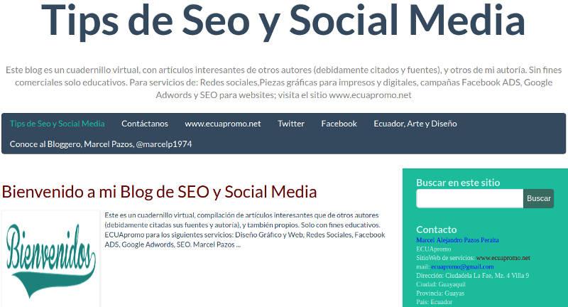 Tips de SEO y Social Media.