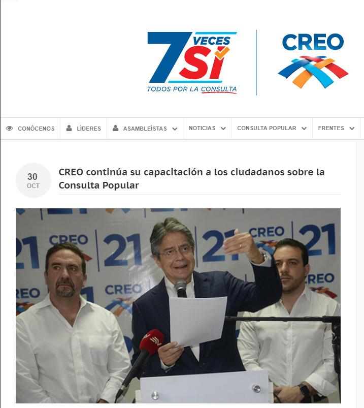 Sitio web de Creo.