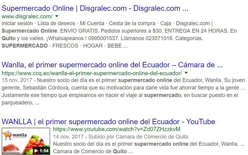 Resultado de búsqueda en Google.