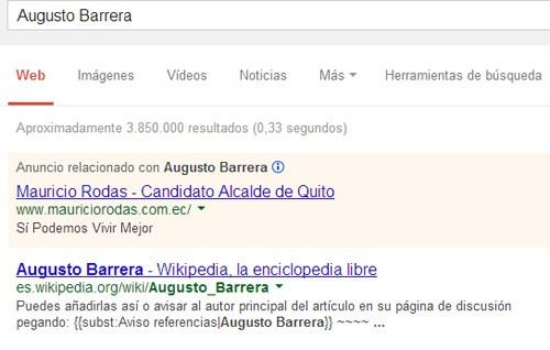 Google Adwords para Mauricio Rodas, 2014.
