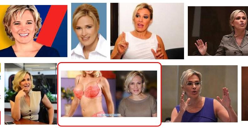 Imágenes que salieron durante la campaña electoral 2017 sobre Cynthia Viteri (la foto es de El Mercioco (parodia de El Comercio)