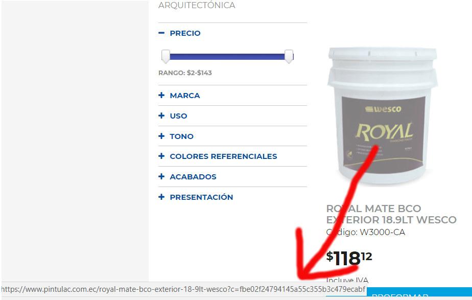 URL del producto.
