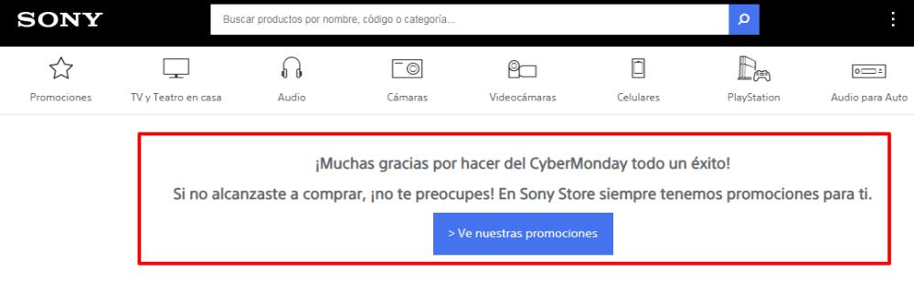 Página de Sony Ecuador.