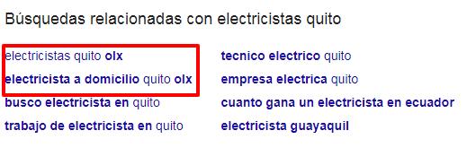 Búsquedas relacionadas para electricistas quito.