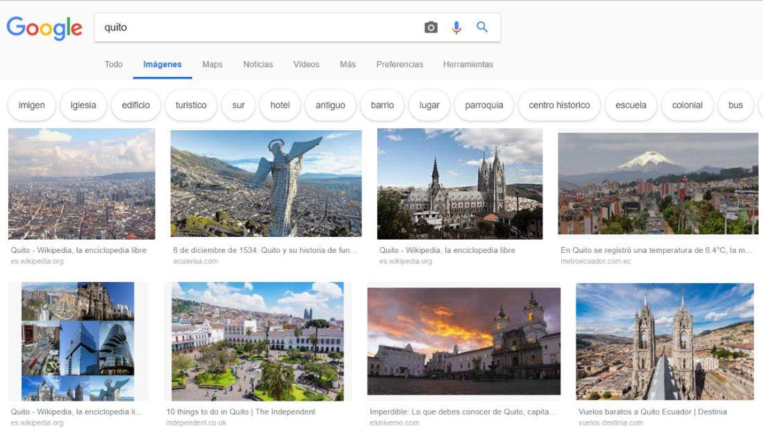 Búsqueda en Google por imágenes.