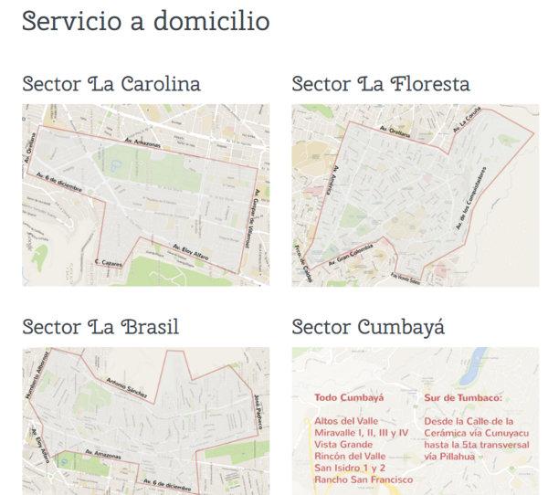 Alforno no menciona claramente que tiene entrega a domicilio en Quito.
