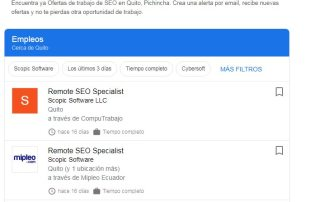 Buscando por empleo de SEO en Quito.