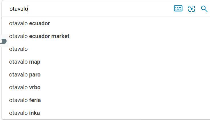 Autocomplete en Bing.