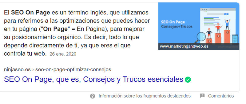 Featured Snippet.