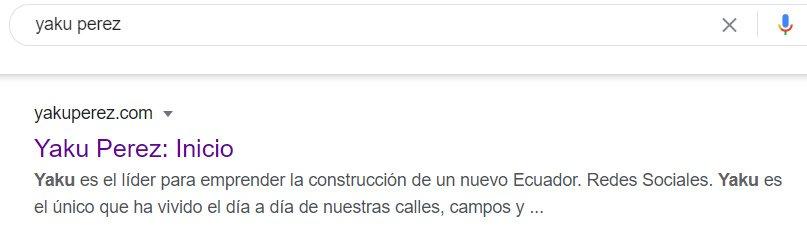 Resultado de búsqueda Yaku Pérez.