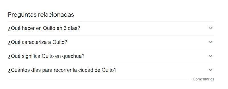 Preguntas y respuestas en Google.