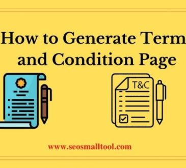 How to Generate Terms and Condition Page